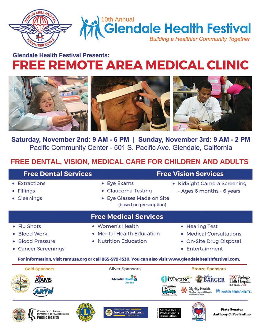 Glendale Health Festival Flyer