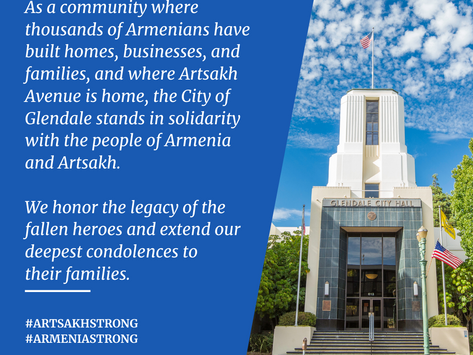 Glendale Stands in Solidarity with the People of Armenia and Artsakh