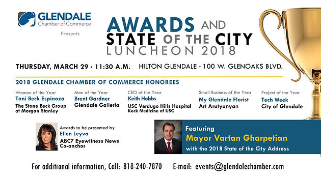 Glendale Chamber of Commerce Awards Hosts Luncheon for