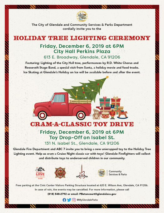 Holiday Tree Lighting and Cram-A-Classic Toy Drive