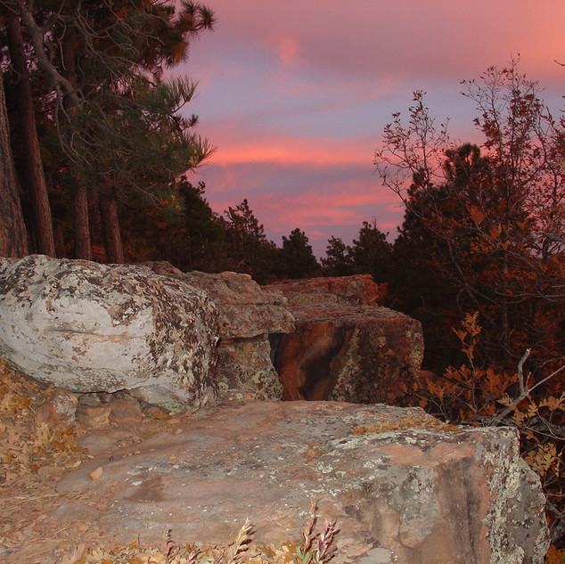 Vibrant Sky Colors on the Creek