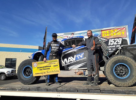 Dave Mason Jr. and Stronghold Motorsports WIN Parker 425 Class 1500 in MAVTV Unlimited Buggy