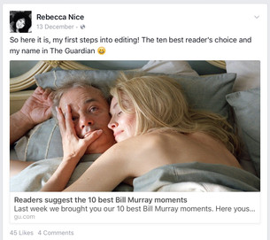 Editorial for The Guardian-Dec 2015 The Ten Best Bill Murray Moments- Readers' choice!