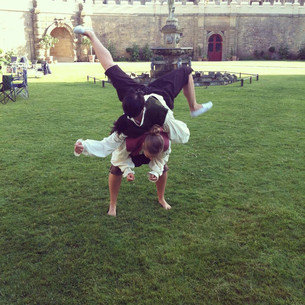 Performing at Bolsover Castle, 17th C dancing!