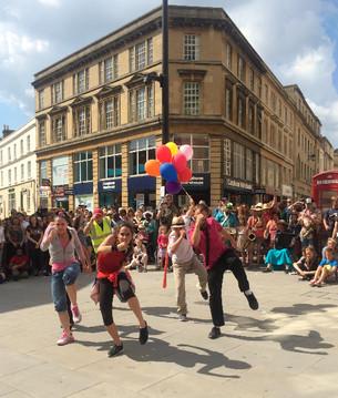 """(In)visible Dancing"" Flashmob in Bath, 14th June 2014"