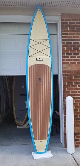 """12'6"""" Race board Bamboo/blue"""