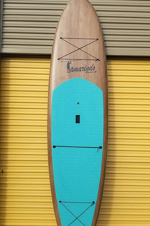 "10'6"" Dark Wood Polymer Shell SUP with Aqua Deck Pad"