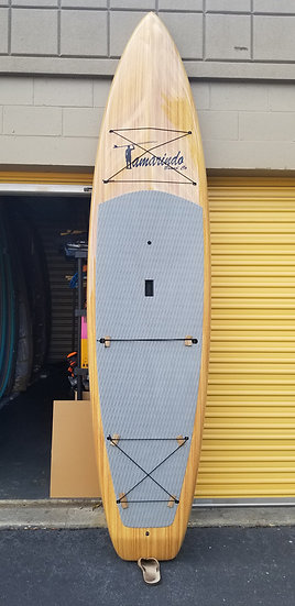 """11'6"""" Touring Teak Wood Polymer Shell Sup with Gray pad"""