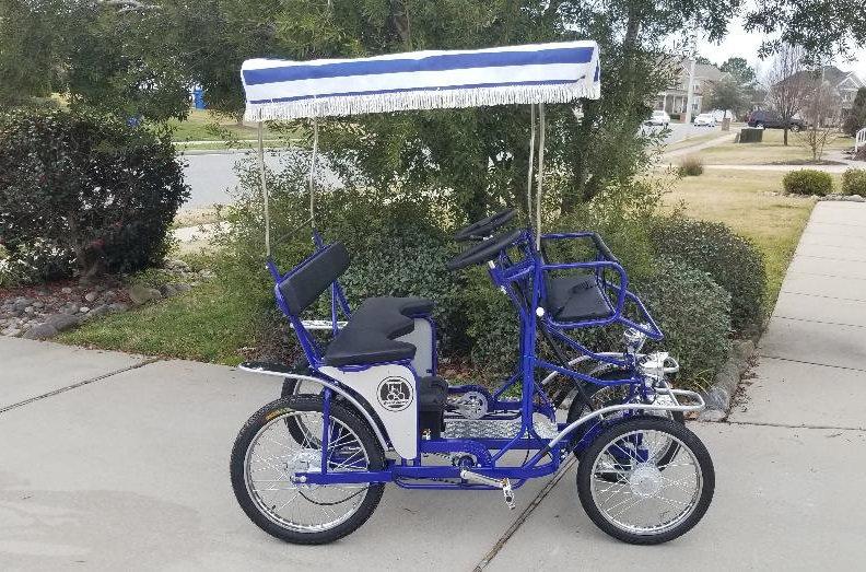 Electric Assist Single Bench Surrey Blue