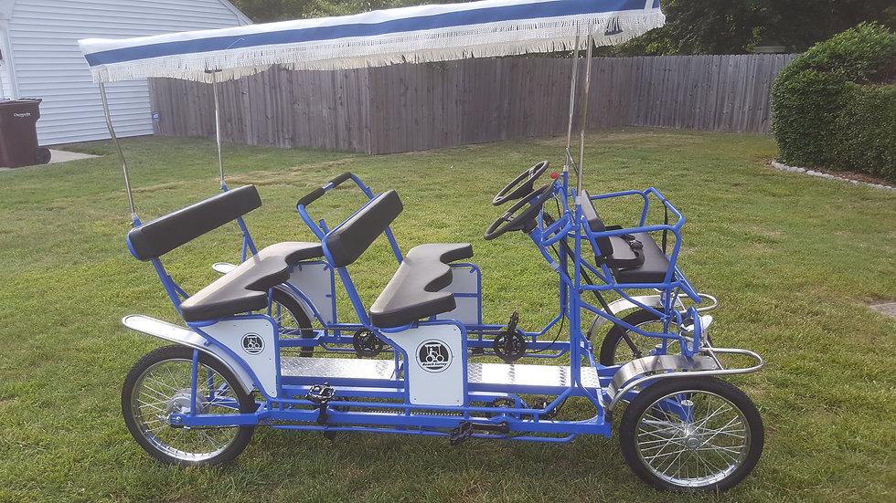 Electric Assist Double Bench Surrey Blue