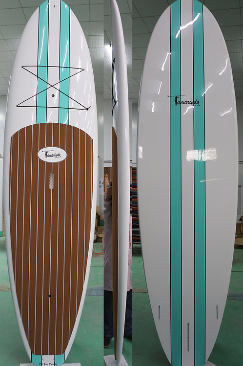 """10'6"""" Classic stripes Polymer Shell SUP with Gray or Brown Striped Pad"""