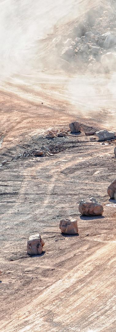 truck on dirt