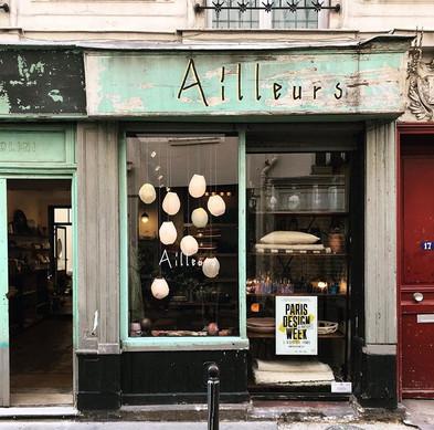 Aurore Piette Studio at Ailleurs Paris with Bocci light design