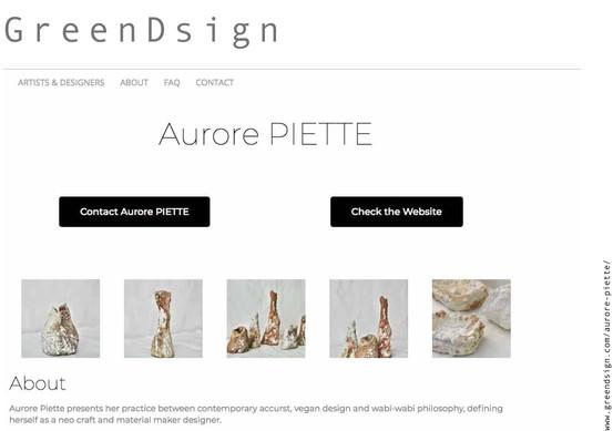 GreenDsign Aurore Piette