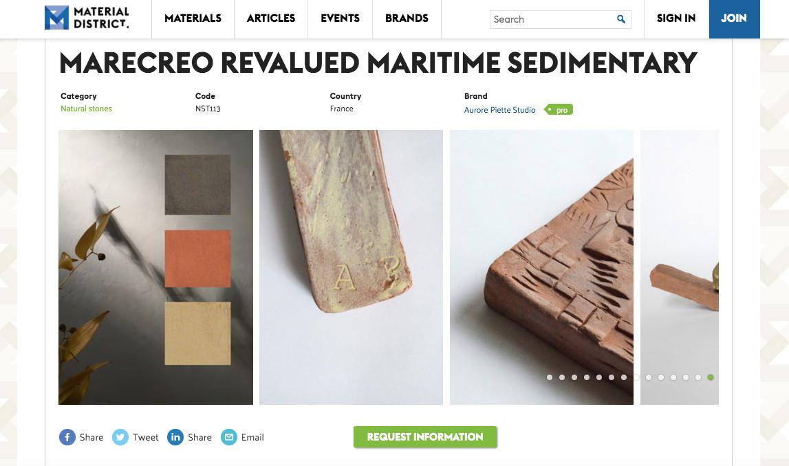 Material District Aurore Piette Studio