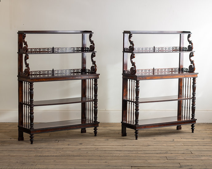 A pair of early Victorian rosewood display buffets