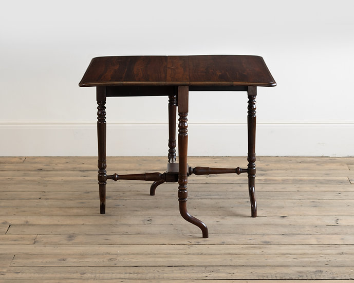 A 19th century solid rosewood Sutherland table