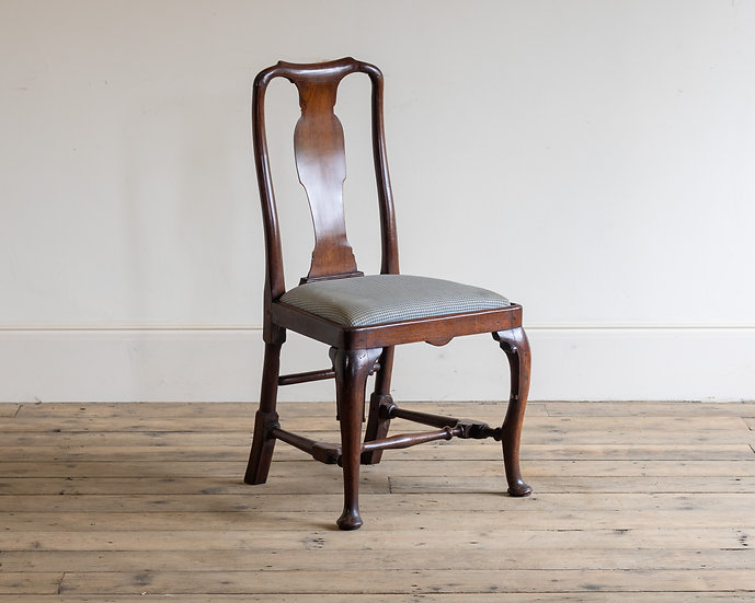 An early 18th century mahogany side chair