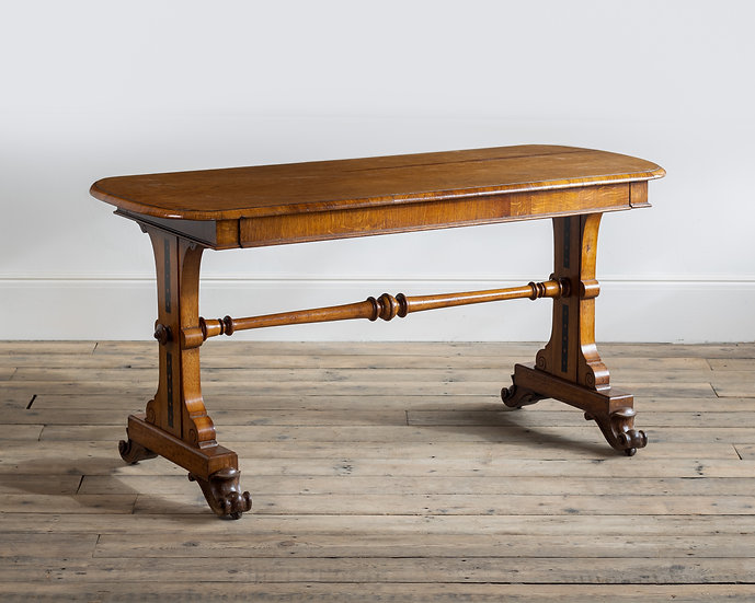 An Aesthetic Movement oak library table