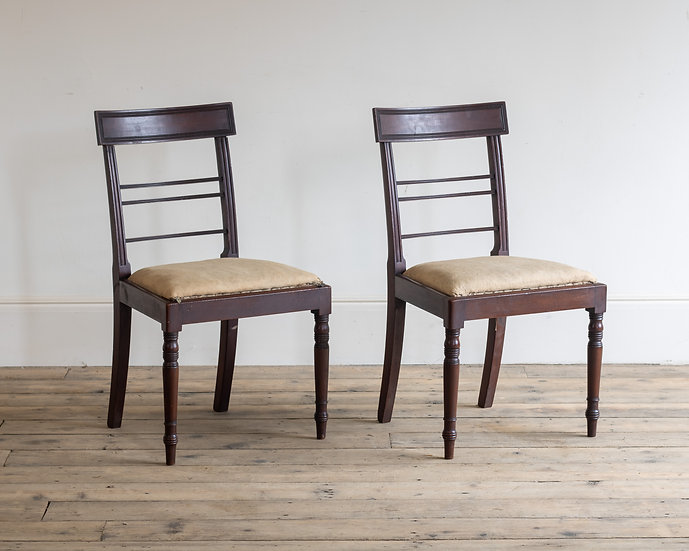 A pair of Regency mahogany side chairs