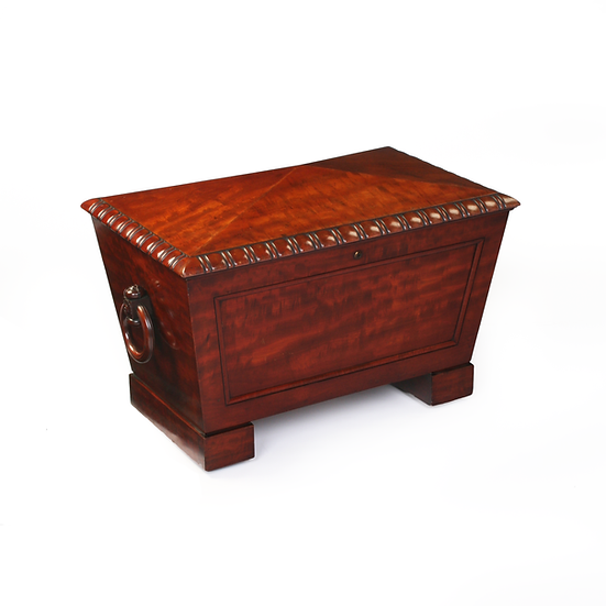 A Regency Mahogany Sarcophagus Wine Cooler
