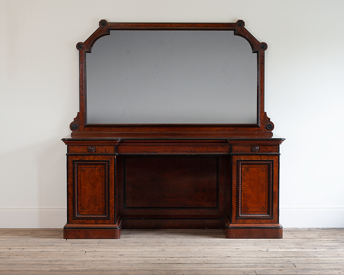 A Victorian mahogany and ebonised sideboard by Lamb of Manchester