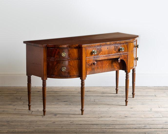 A late Regency mahogany sideboard