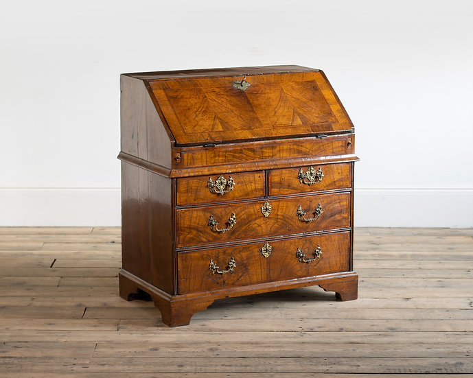 An early 18th century walnut bureau