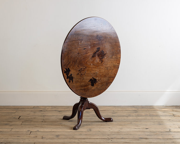 A large George III mahogany tripod table