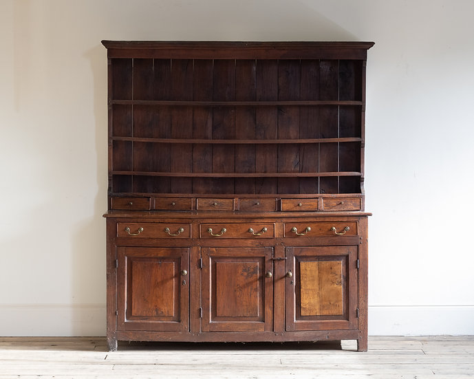 An 18th century oak dresser