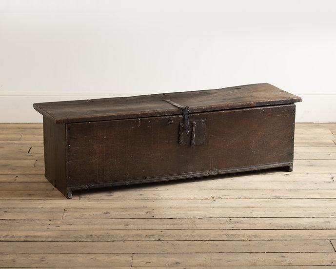 An early oak boarded chest