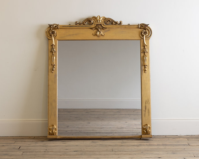 A William IV giltwood overmantel mirror