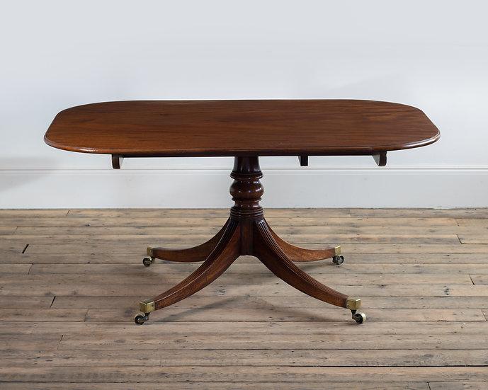 A Regency mahogany breakfast table