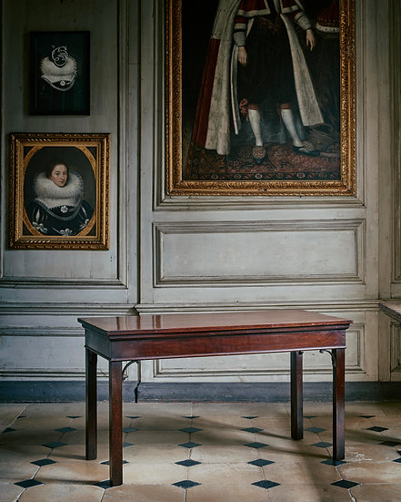 A George III Chippendale mahogany side table