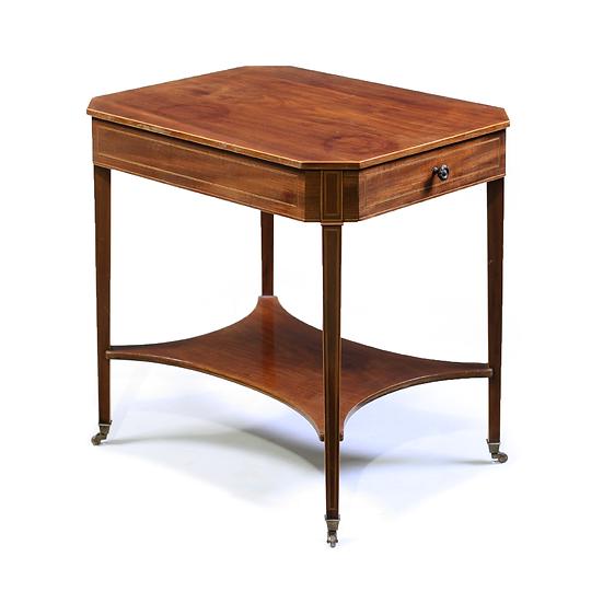 A George III style mahogany lamp table