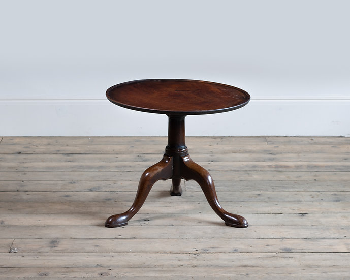 A George II 'cut-down' mahogany tripod table