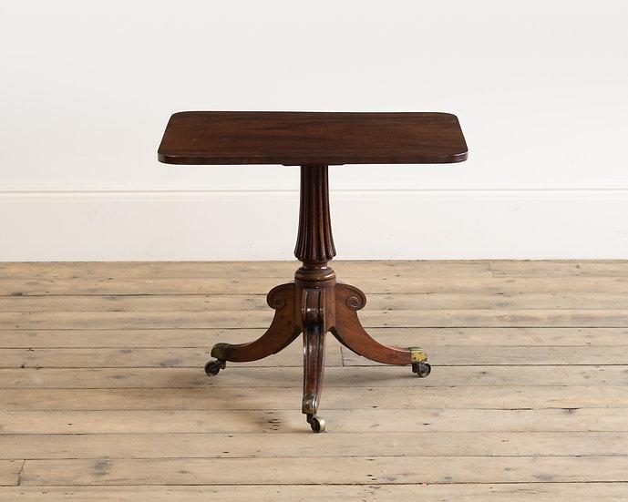 A Regency mahogany 'cut-down' table
