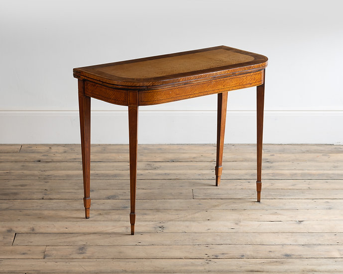 A George III satinwood card table