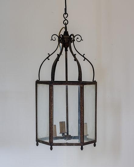 A weathered brass Regency style lantern