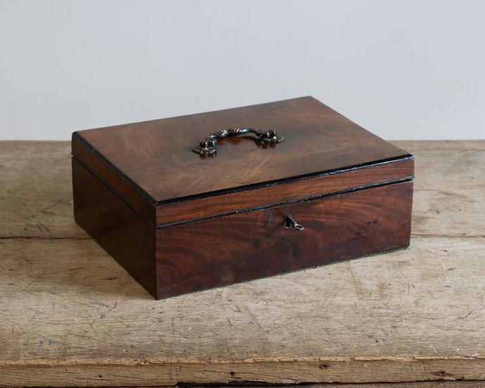 A George III mahogany writing box