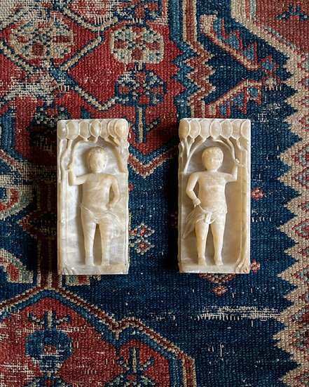 A pair of Alabaster figures