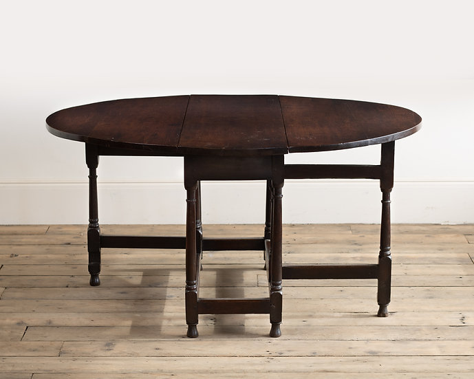 A William & Mary oak joined gateleg table