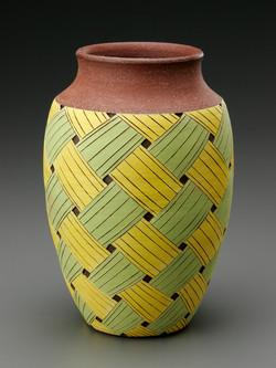 Vase, Stoneware with Underglaze