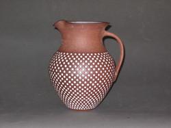 Pitcher, stoneware, inlaid glaze