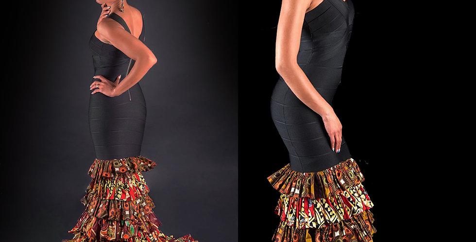 Bodycon Dress with Kitenge