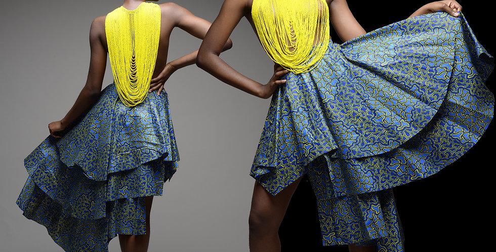 Printed Layered Skirt