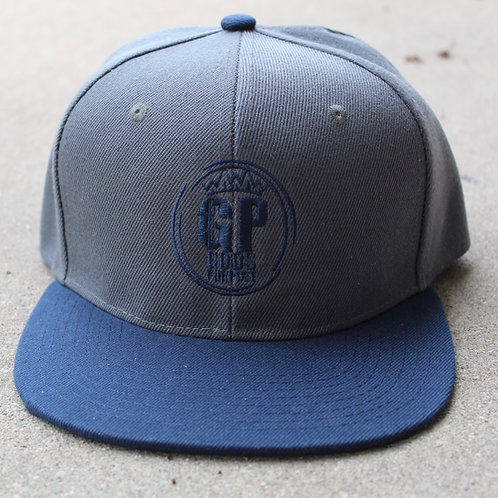 Blue and Gray SnapBack Hat
