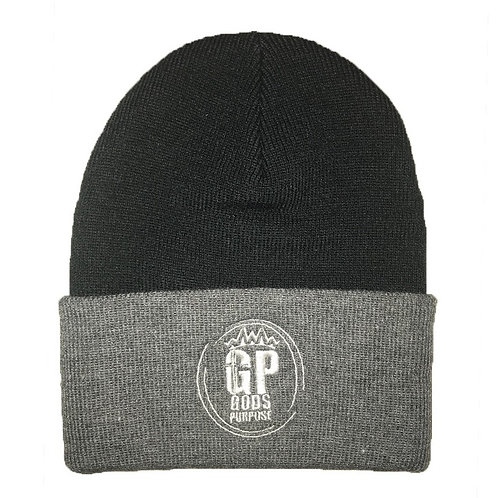 Black and Gray Sweater Hat