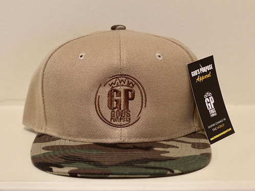 Tan & Brown Camouflage Hat