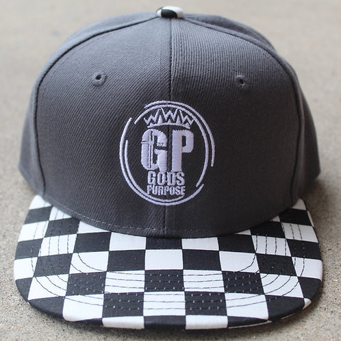 Kids Black and White SnapBack Hat